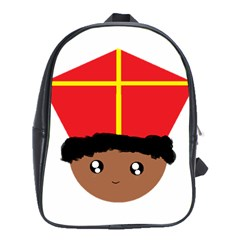 Cutieful Kids Art Funny Zwarte Piet Friend Of St  Nicholas Wearing His Miter School Bag (xl) by yoursparklingshop