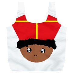 Cutieful Kids Art Funny Zwarte Piet Friend Of St  Nicholas Wearing His Miter Full Print Recycle Bags (l)  by yoursparklingshop