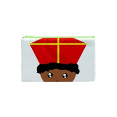 Cutieful Kids Art Funny Zwarte Piet Friend Of St  Nicholas Wearing His Miter Cosmetic Bag (xs) by yoursparklingshop