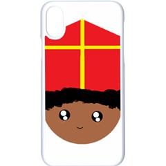 Cutieful Kids Art Funny Zwarte Piet Friend Of St  Nicholas Wearing His Miter Apple Iphone X Seamless Case (white) by yoursparklingshop