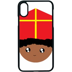 Cutieful Kids Art Funny Zwarte Piet Friend Of St  Nicholas Wearing His Miter Apple Iphone X Seamless Case (black) by yoursparklingshop