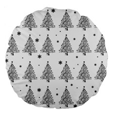 Christmas Tree   Pattern Large 18  Premium Flano Round Cushions by Valentinaart