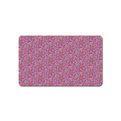 Whirligig Pattern Hand Drawing Pink 01 Magnet (name Card) by Cveti