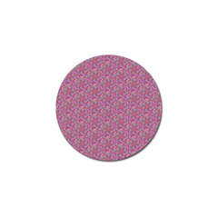 Whirligig Pattern Hand Drawing Pink 01 Golf Ball Marker (4 Pack) by Cveti