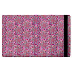 Whirligig Pattern Hand Drawing Pink 01 Apple Ipad Pro 9 7   Flip Case by Cveti