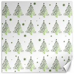 Christmas Tree   Pattern Canvas 16  X 16   by Valentinaart