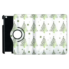 Christmas Tree   Pattern Apple Ipad 3/4 Flip 360 Case by Valentinaart