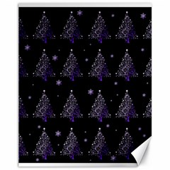 Christmas Tree   Pattern Canvas 11  X 14   by Valentinaart