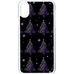 Christmas Tree   Pattern Apple Iphone X Seamless Case (white)