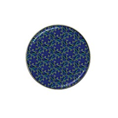 Whirligig Hand Drawing Geometric Pattern Blue Hat Clip Ball Marker by Cveti