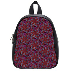 Whirligig Pattern Hand Drawing Red School Bag (small) by Cveti