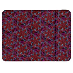 Whirligig Pattern Hand Drawing Red Samsung Galaxy Tab 7  P1000 Flip Case by Cveti