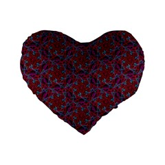 Whirligig Pattern Hand Drawing Red Standard 16  Premium Flano Heart Shape Cushions by Cveti