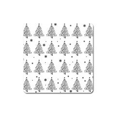 Christmas Tree   Pattern Square Magnet by Valentinaart