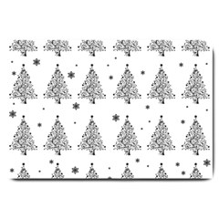Christmas Tree   Pattern Large Doormat  by Valentinaart