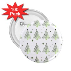 Christmas Tree   Pattern 2 25  Buttons (100 Pack)  by Valentinaart