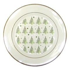 Christmas Tree   Pattern Porcelain Plates by Valentinaart
