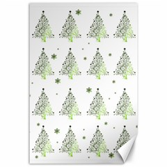 Christmas Tree   Pattern Canvas 24  X 36  by Valentinaart