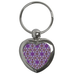 Flower Of Life Hand Drawing Pattern Key Chains (heart)  by Cveti