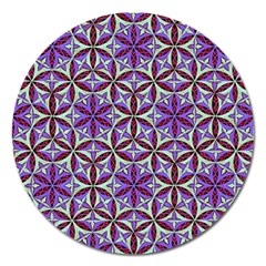 Flower Of Life Hand Drawing Pattern Magnet 5  (round) by Cveti