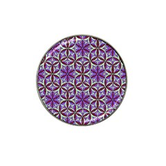 Flower Of Life Hand Drawing Pattern Hat Clip Ball Marker (4 Pack) by Cveti