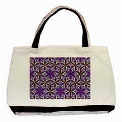 Flower Of Life Hand Drawing Pattern Basic Tote Bag by Cveti