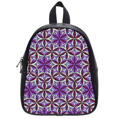 Flower Of Life Hand Drawing Pattern School Bag (small) by Cveti