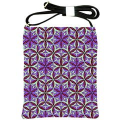 Flower Of Life Hand Drawing Pattern Shoulder Sling Bags by Cveti