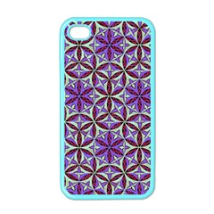 Flower Of Life Hand Drawing Pattern Apple Iphone 4 Case (color) by Cveti