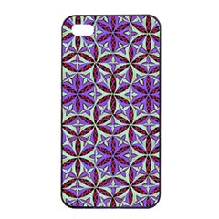 Flower Of Life Hand Drawing Pattern Apple Iphone 4/4s Seamless Case (black) by Cveti