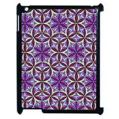 Flower Of Life Hand Drawing Pattern Apple Ipad 2 Case (black) by Cveti