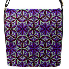 Flower Of Life Hand Drawing Pattern Flap Messenger Bag (s) by Cveti