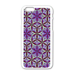 Flower Of Life Hand Drawing Pattern Apple Iphone 6/6s White Enamel Case by Cveti