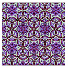Flower Of Life Hand Drawing Pattern Large Satin Scarf (square) by Cveti