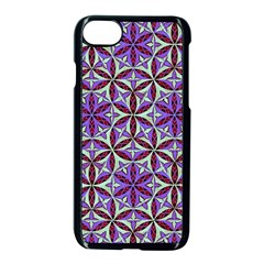 Flower Of Life Hand Drawing Pattern Apple Iphone 7 Seamless Case (black) by Cveti