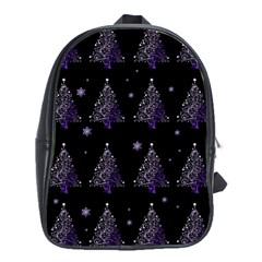 Christmas Tree   Pattern School Bag (xl) by Valentinaart