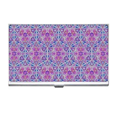Star Tetrahedron Hand Drawing Pattern Purple Business Card Holders by Cveti
