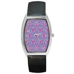 Star Tetrahedron Hand Drawing Pattern Purple Barrel Style Metal Watch by Cveti