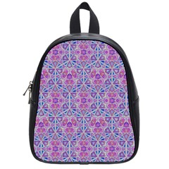 Star Tetrahedron Hand Drawing Pattern Purple School Bag (small) by Cveti