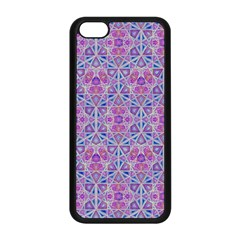 Star Tetrahedron Hand Drawing Pattern Purple Apple Iphone 5c Seamless Case (black) by Cveti