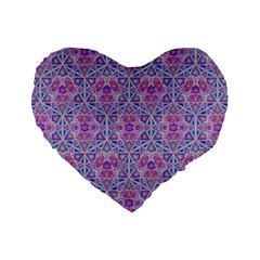 Star Tetrahedron Hand Drawing Pattern Purple Standard 16  Premium Flano Heart Shape Cushions by Cveti
