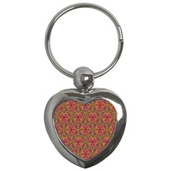 Star Tetrahedron Pattern Red Key Chains (heart)  by Cveti