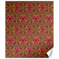 Star Tetrahedron Pattern Red Canvas 20  X 24   by Cveti