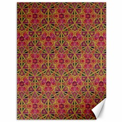 Star Tetrahedron Pattern Red Canvas 36  X 48   by Cveti