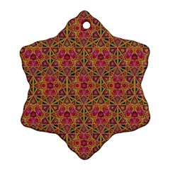 Star Tetrahedron Pattern Red Ornament (snowflake) by Cveti