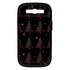 Christmas Tree   Pattern Samsung Galaxy S Iii Hardshell Case (pc+silicone) by Valentinaart
