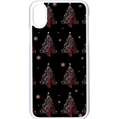 Christmas Tree   Pattern Apple Iphone X Seamless Case (white)