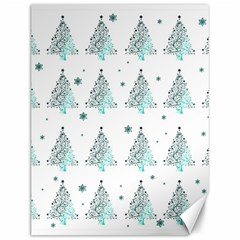 Christmas Tree   Pattern Canvas 12  X 16   by Valentinaart