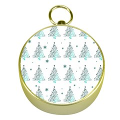 Christmas Tree   Pattern Gold Compasses by Valentinaart