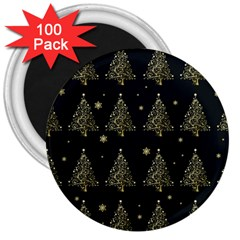 Christmas Tree   Pattern 3  Magnets (100 Pack) by Valentinaart